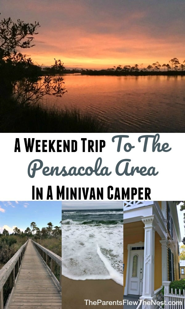 A weekend trip to Pensacola, Florida| Gulf Islands National Seashore | Big Lagoon State Park | #hike #travel #minivancamper #camping #glamping