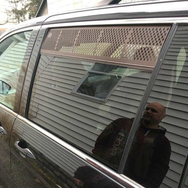 Window screens for a minivan camper