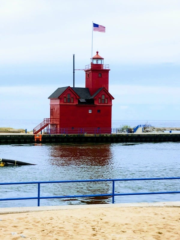 Big Red Lighthouse near Holland State Park in Holland, Michigan.