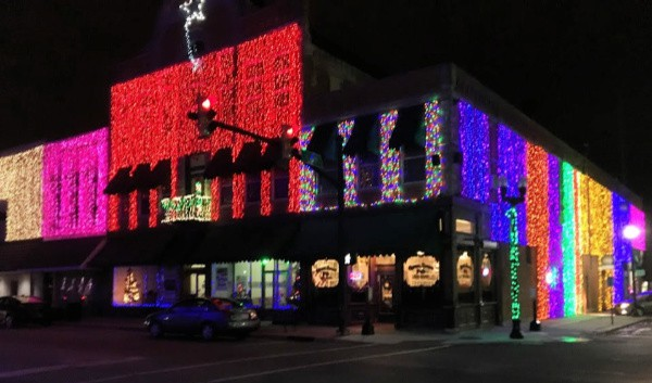 Elwood, Indiana's Christmas light display.