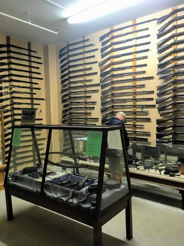 The Walker Armament gallery at the Miami County Museum, Peru, Indiana.