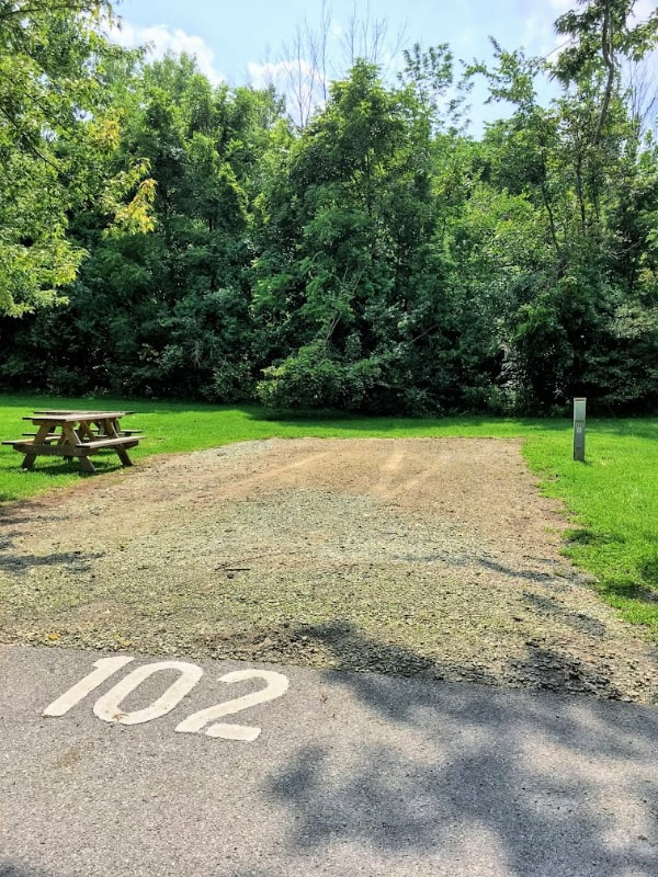 Campsite 102 at Mississenewa lake campground, Indiana.