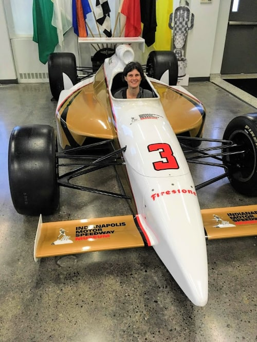 Get your picture taken in a Indy race car at the Indianapolis Motor Speedway Museum.