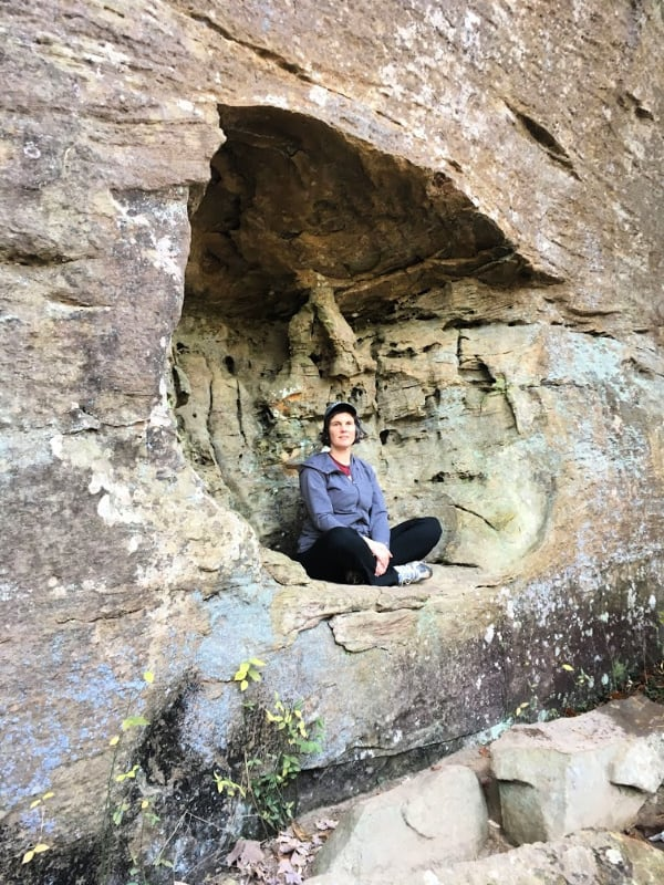 Me on the Angel Windows trail #218 in Red River Gorge Area.