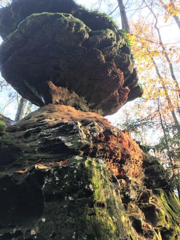 Balanced Rock in Natural Bridge State Resort Park KY