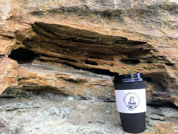 Great coffee from Daniel Boone Coffee Shoppe I enjoyed while hiking up to the Natural Bridge in Kentucky.