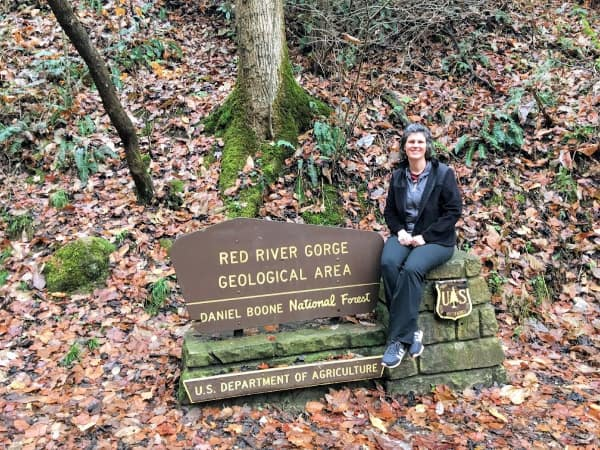 Me one the Red Rive Gorge Area sign.