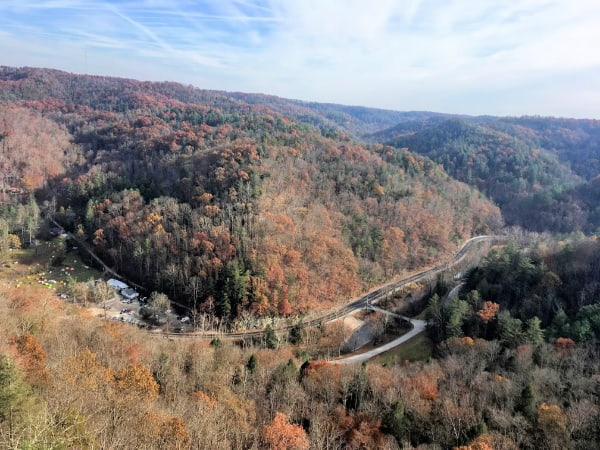 The view from Lover's Leap Trail in Natural Bridge State Resort Park, KY.